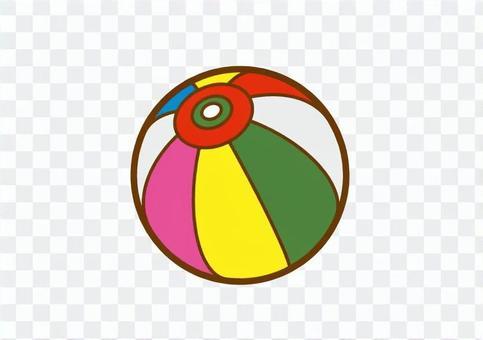 有一條紙氣球線