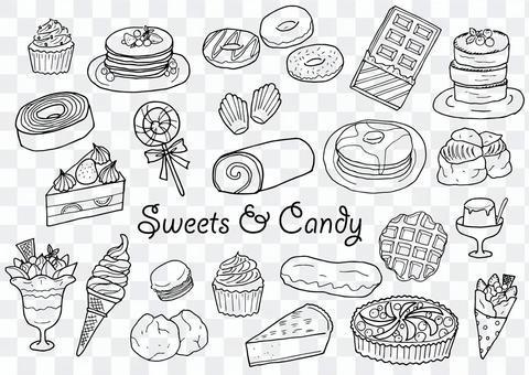 Sweets illustration set