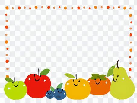 フルーツのフレーム