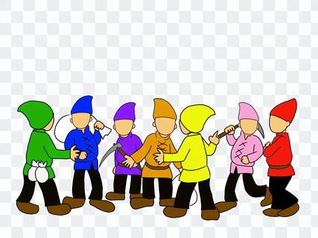 格林童話中的七個小矮人