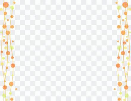 橙色的點框架