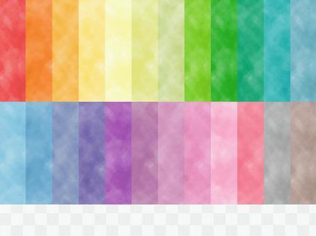 Watercolor style seamless pattern swatch set