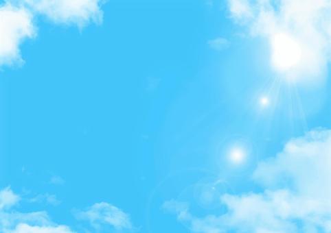 藍藍的天空和雲彩框架