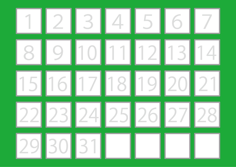 5 illustrations (squares, squares, numbers, green)