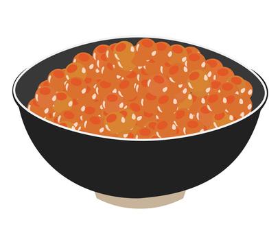 Salmon roe bowl