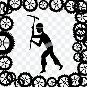 齒輪機器模式移動勞動體力勞動