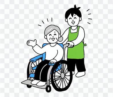 輪椅高級女圍裙男(簡單)
