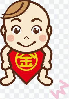 嬰兒四爪蓬鬆2.金太郎