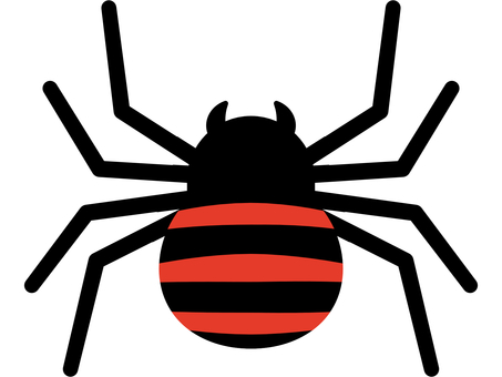 Spider with red stripes