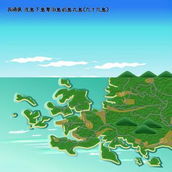 浅島 九十九島 長崎県 島 海 上空