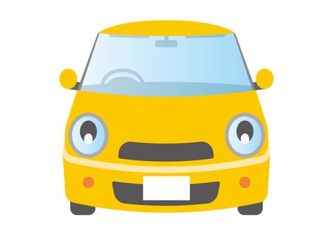汽車緊湊型車黃色