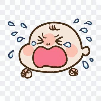 江恩哭泣的嬰兒(用手)
