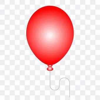 紅氣球的插圖
