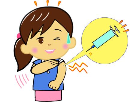 有點痛,但讓我們接種疫苗吧! _年輕女子