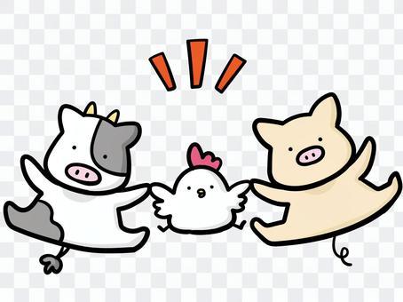 精力充沛的牲畜的插圖