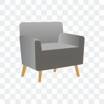 單人沙發(灰色)