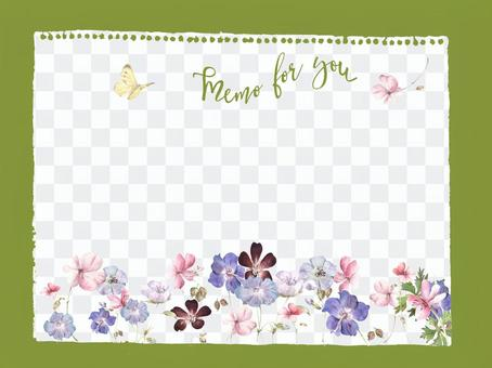 Memo paper 11 - geranium