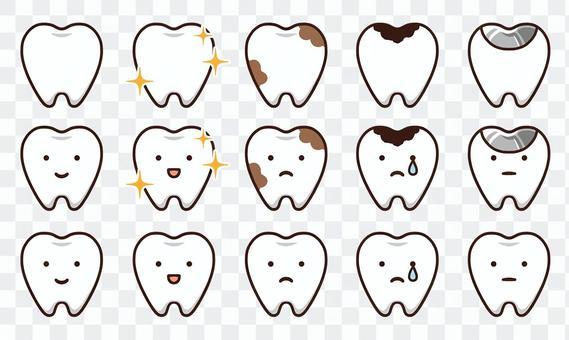 牙齒的免費插圖