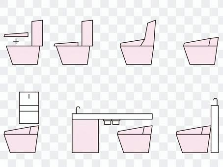 廁所粉紅色