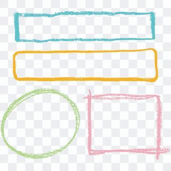用蠟筆繪製的框架