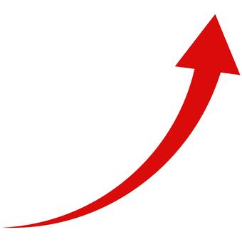 Arrow gentle curve soaring fine