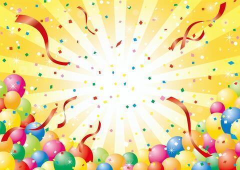 氣球,集中線和五彩紙屑_2