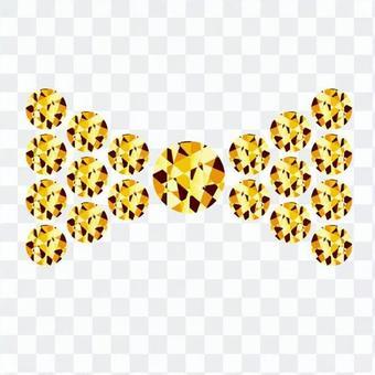 リボンデコ-黃