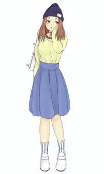 模式②女04(青少年)