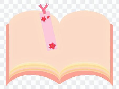 Book and floral bookmark frameset 1