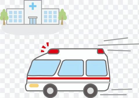 医院和救护车