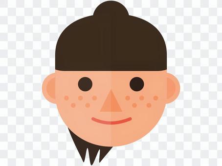 雀斑的女孩的臉