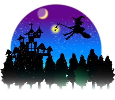 Halloween Material Postcard B