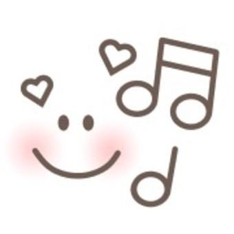 透明音樂音符面對心