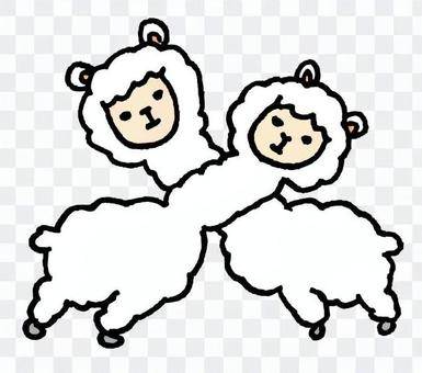 羊駝十字架