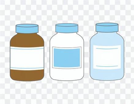 薬:サプリメント:ボトル:瓶:理科