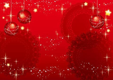 聖誕節_閃耀的紅色冬天背景材料