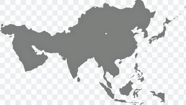 亞洲區域地圖