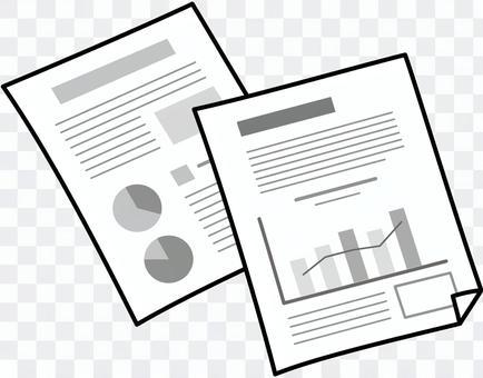 ビジネス書類(モノクロ)