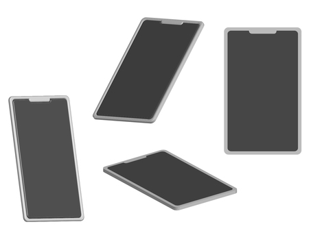 3D 3D simple smartphone set