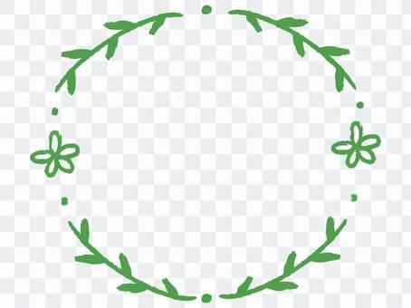 一個簡單的草藥和花卉裝飾框架