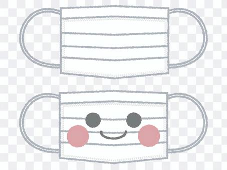 Cute mask character illustration