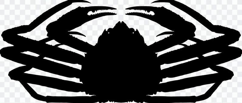 Matsuba crab _ Silhouette _ black