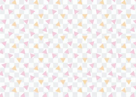 三角形花紋粉紅色