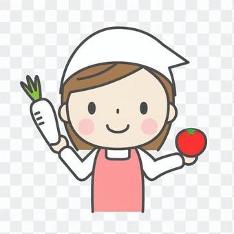 婦女與蔬菜