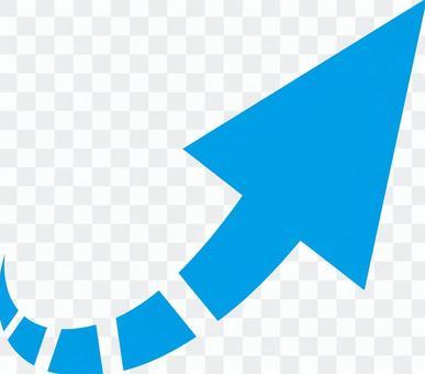 箭頭_右對角_淺藍色