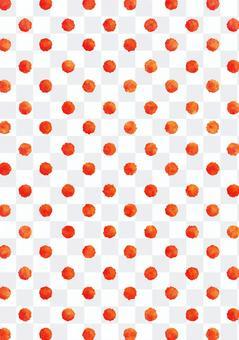 水彩圓點波爾卡圓點紋理·紅色垂直