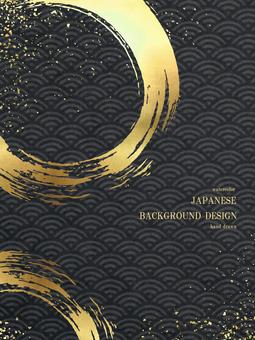 新年賀卡青海波日本背景 56