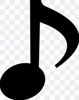 Eighth note _01_ black