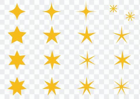 Various star shapes