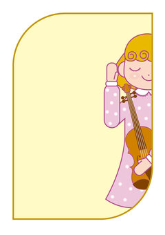 Background: Girl and violin